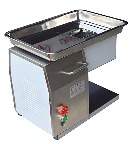 110V 550W Stainless Steel Commercial Meat Slicer Cutting Machine 3mm Blade 250Kg/Hour (Item#160501)