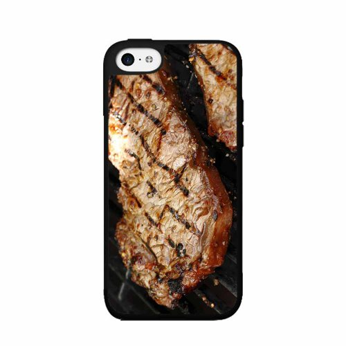 Meat on The Grill - TPU Rubber Silicone Phone Case Back Cover (iPhone 5c) Includes BleuReign(TM) Cloth and Warranty Label
