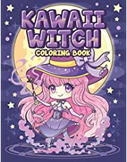 Kawaii Witch Coloring Book: Cute Wicca Witchcraft Coloring Book for Adult and Kids