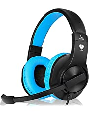 Headset Gaming for PS4 ,Xbox One Controller ,Wired Noise Isolation, Over-Ear Headphones with Mic ,Stereo Gamer Headphones 3.5mm, Earphone for Laptop, Mac, PC (Pink)