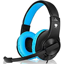 Headset Gaming for PS4 ,Xbox One Gaming Headset ,Wired Noise Isolation, Over-Ear Headphones with Mic ,Stereo Gamer Headphones 3.5mm(Blue)