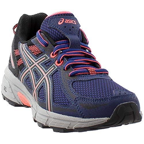 ASICS Women's Gel-Venture 6 Running-Shoes,Indigo Blue/Black/Coral,8 Medium US