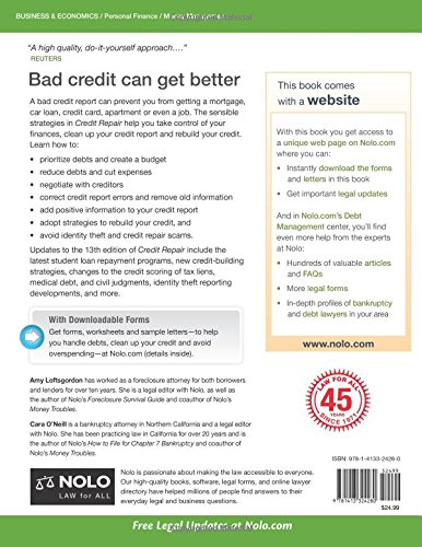 Credit repair make a plan improve your credit avoid scams amy credit repair make a plan improve your credit avoid scams amy loftsgordon attorney cara oneill oneill 9781413324280 amazon books solutioingenieria Images