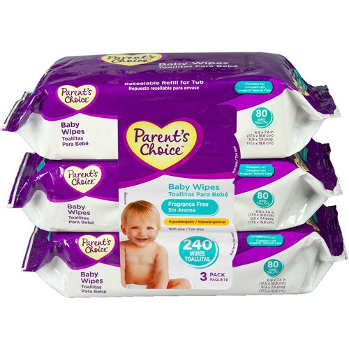 Amazon.com : Parent\s Choice Fragrance Free Baby Wipes, 80 sh : Baby Toys : Baby