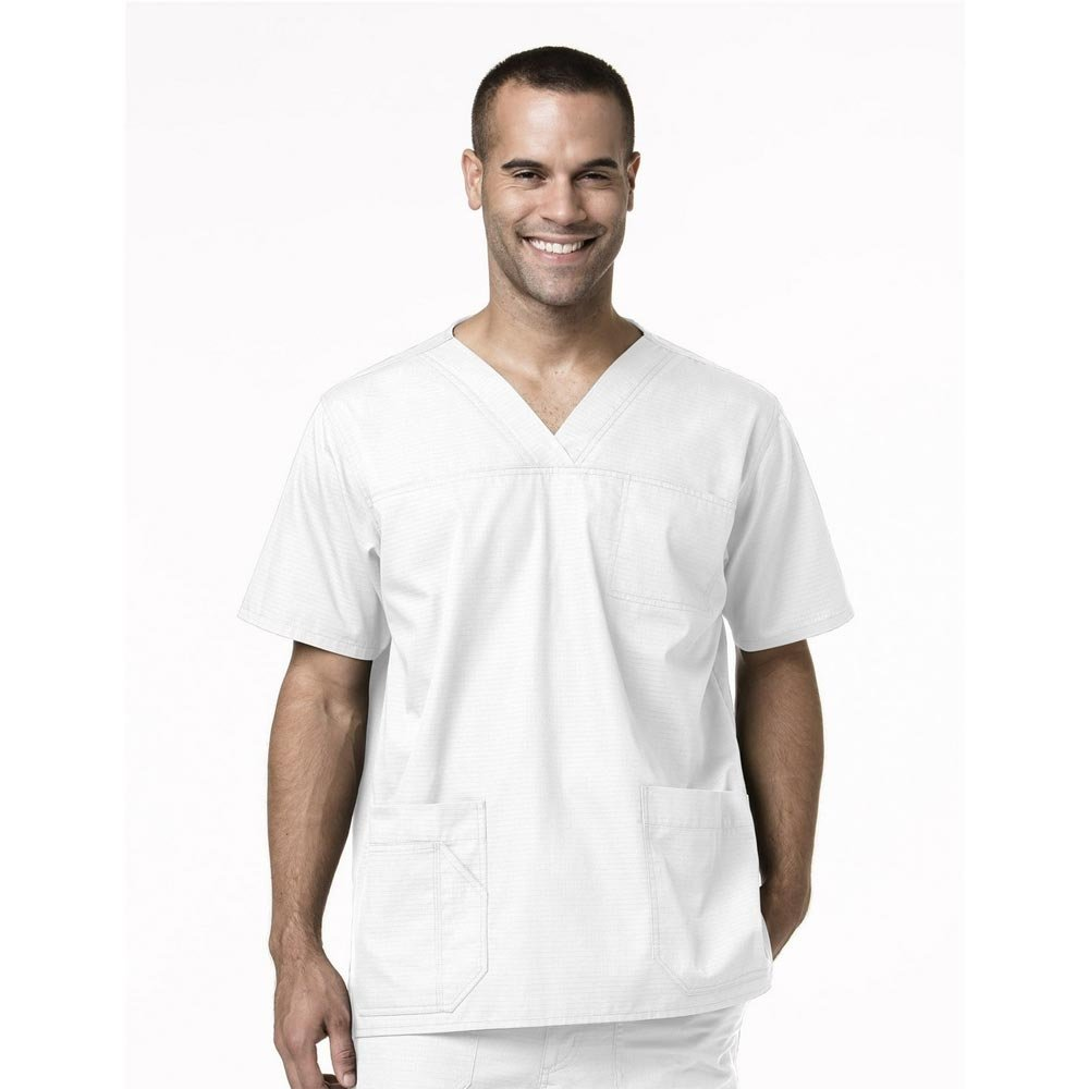 Carhartt Men's Ripstop Multi-Pocket Scrub Top, White, X-Large