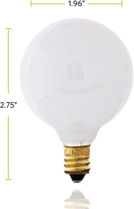 Pack Of 10 25g16 5 25 Watt G16 5 Decorative Globe E12 Candelabra Base G16 1 2 Light Bulbs White Amazon Co Uk Lighting