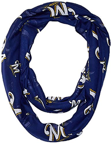 Milwaukee Brewers Repeat Print Pr Infinity Scarf