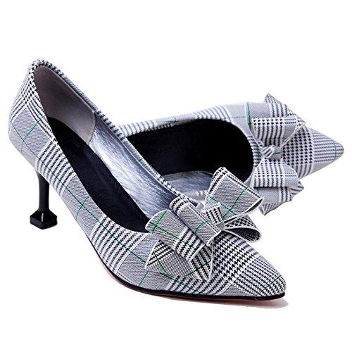 TAOFFEN Women Slip on Court Shoes Heels Green m5qTaG4