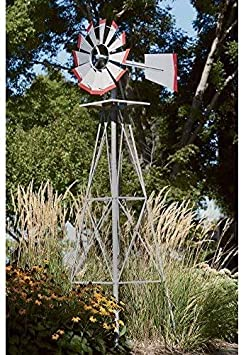 Large Métallique Windmill Garden exclusives Décoration Jardin