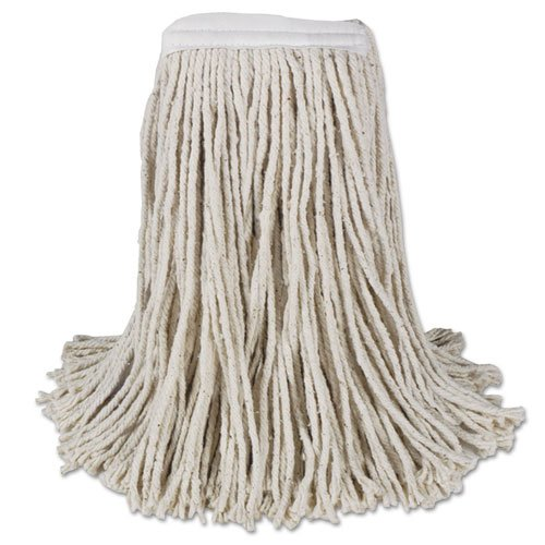 Mop Head Cotton 4 Ply - BWKCM02016S - Mop Head, Cotton, Cut-end, White, 4-ply, 16 Band