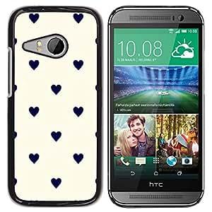 rígido protector delgado Shell Prima Delgada Casa Carcasa Funda Case Bandera Cover Armor para HTC ONE MINI 2 / M8 MINI -Polka Dot Black Beige White-