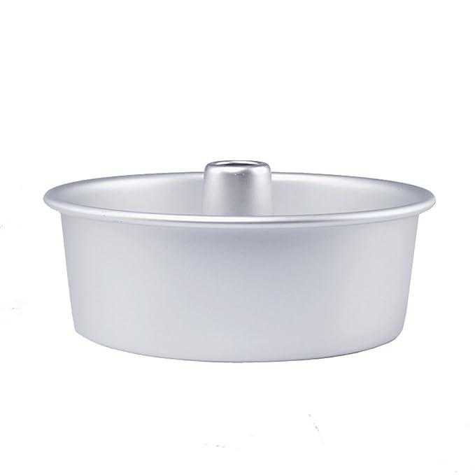 Dealglad® 6 pulgadas de la aleación de aluminio hueco redondo inculpabilidad molde pastel de Ángel Pan molde inferior extraíble: Amazon.es: Hogar