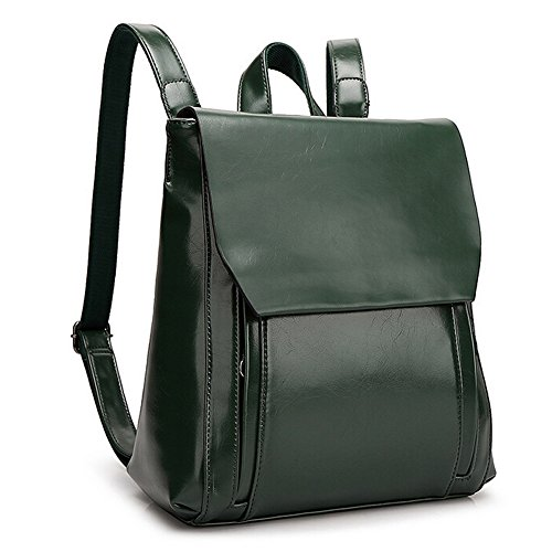 Backpack Vintage Bumud Bag Fashion Shoulders Bag Student School Green FzqRx7BX