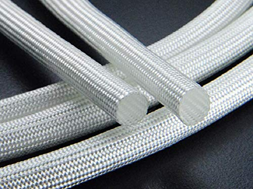ART IFACT 10 m of Fiberglass Insulation Sleeves Tube (3 mm, White)