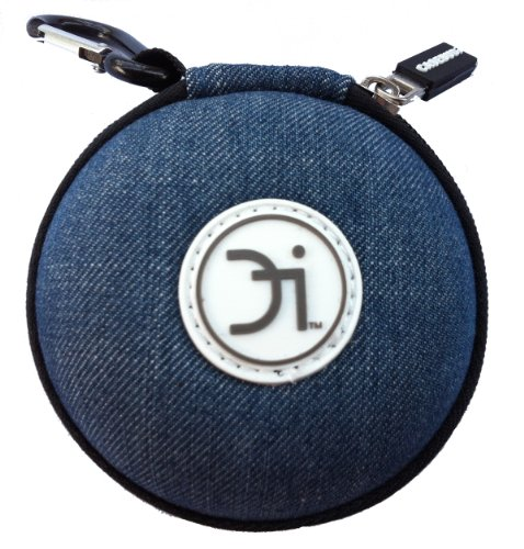 Ipod Shuffle Headset - CASEBUDi Blue Jeans - Limited Edition - Small case for your Earbuds, iPod Shuffle, iPhone charger, Coins, or small Bluetooth headset