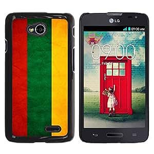Paccase / SLIM PC / Aliminium Casa Carcasa Funda Case Cover - National Flag Nation Country Lithuania - LG Optimus L70 / LS620 / D325 / MS323