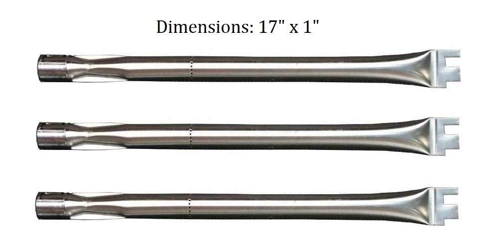 Hongso SBC041 (3-Pack) Replacement Burner for BBQ Grillware, Ducane, Home Depot, Original Part, Lowes Model Grills (Original Part Numbers: 30500702, 30500603, 305000047, 30500094, DUCHD1) by Hongso (Image #2)
