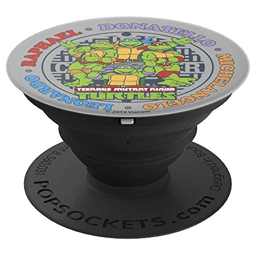 (Teenage Mutant Ninja Turtles Sewer Circle Name Group Shot - PopSockets Grip and Stand for Phones and Tablets)