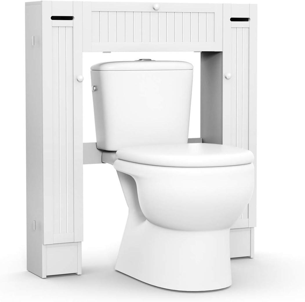 62CM Cabinet White Over Toilet Bathroom Space Saver Storage Shelf Rack Organizer