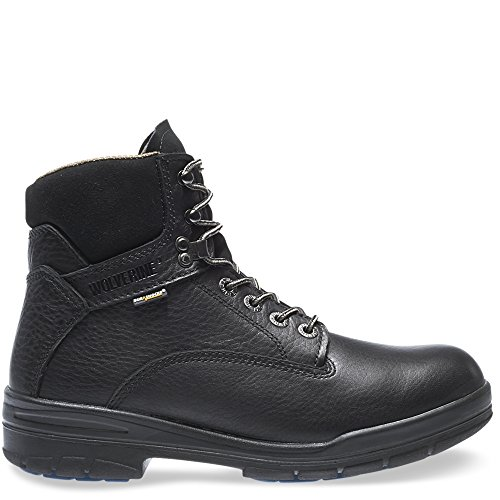 "Wolverine DuraShocks SR Direct-Attach Lined 6"" Work Boot Men 10 Black"