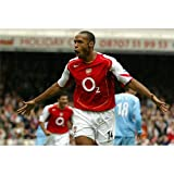 Thierry Henry Poster by Silk Printing # Size about (89cm x 60cm, 36inch x 24inch) # Unique Gift # 8C950C
