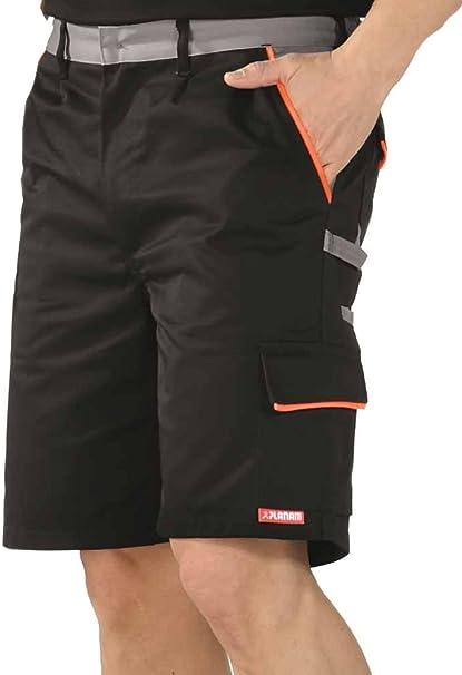 Arbeitshose Kurze Hose Kurz Bermuda Shorts Orange Grau Gr S XXXL