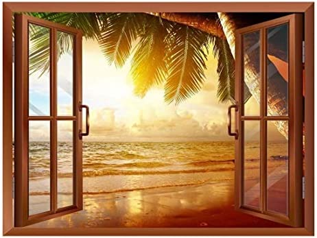 Sunrise on The Oceanside Removable Wall Sticker/Wall Mural - 24