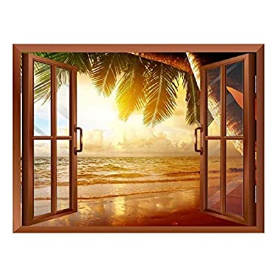 Marvelous Craft, Quality Artwork, Sunrise on The Oceanside Removable Wall Sticker Wall Mural