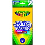 Crayola 8 Ct Ultra-Clean Fine Line Washable Markers, Color Max