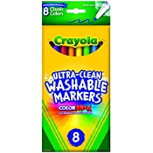 Crayola 8 Pack Ultra-Clean Fine Line Washable Markers, Classic Colors