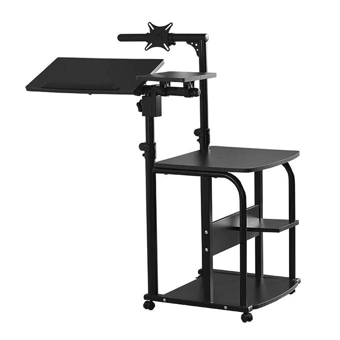 vfdg Portátil móvil Soporte de escritorio Altura ajustable 76Cm ...