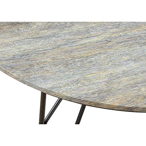 Jurcek 42'' Round Dining Table in Gray Brindle with Round Tabletop And Metal Base, by Artum Hill by Artum Hill (Image #3)