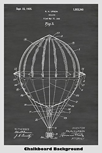 Hot Air Balloon Poster Patent Print Art Poster