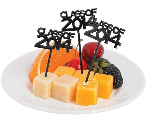"Plastic ""Class of 2014"" Picks for Graduation Party - 72 Pcs"