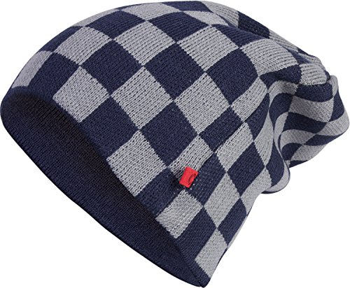 Masterdis size one Knit C3 Color navy Check Beanie grey;Größe x0xH8