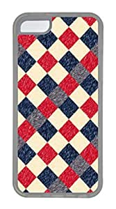 iPhone 5C Case, Customized Protective Soft TPU Clear Case for iphone 5C - Plaid Cover