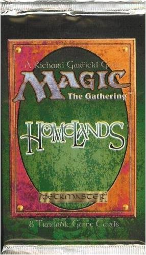 Magic The Gathering Card Game - Homelands Booster Pack - 8C -