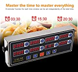 CAL-8B Portable Calculagraph 8 Channel Digital Timer Kitchen Cooking Timing LCD Display Clock Shaking Reminder(Color:silver & black)
