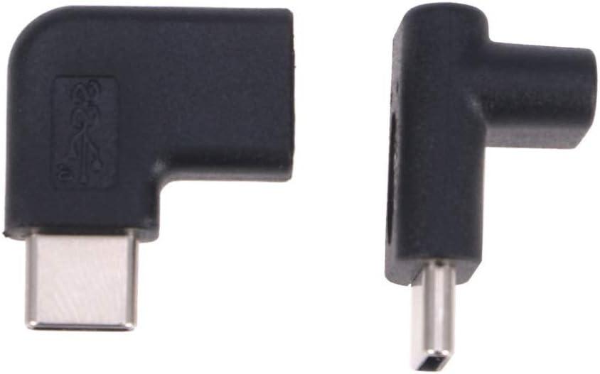 Hemobllo adaptateur c usb adaptateur adaptateur extension m/âle//femelle 90 degr/és pour ordinateur portable 2pcs de t/él/éphone portable type a et b