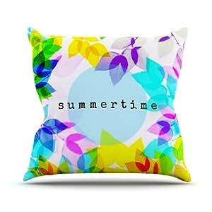 Kess Sreetama Ray internos Seasons Rainbow hojas interior/al aire libre manta almohada