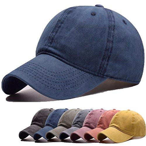 (FADA Vintage Style Men's Adjustable Washed Dyed Cotton Multicolor Baseball Cap)