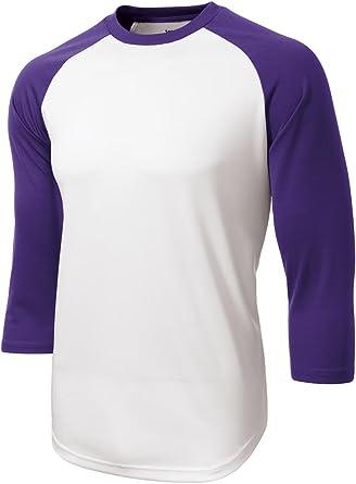 Sport-Tek Mens Moisture Wicking Pique Short Sleeve Baseball-Softball Jersey