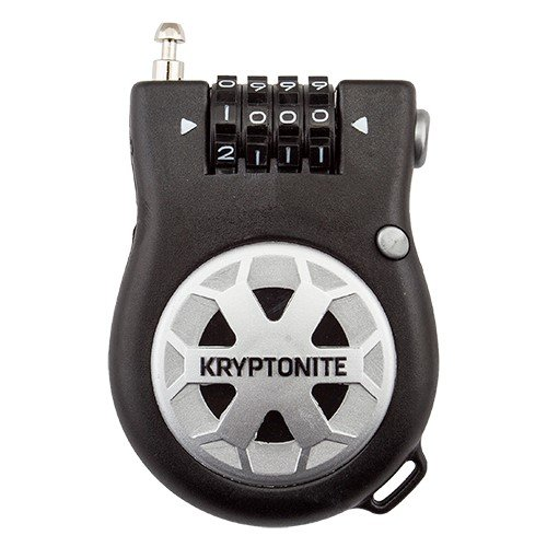 Kryptonite R2 Retractor Combo Cable Lock, 2.4mm x 3-Feet