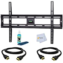 "Tilt Wall Mount for Sony 40"" for (KDL40R380B, KDL40W600B, KDL-40R450A, KDL40R350B, NSX-40GT1, KDL40BX450, KDL-40XBR6, KDL-40V3000, KDL-40V2500, KDL-40S5100, KDL40BX420, KDL-40XBR9, KDL-40V4100, KDL-40S2000) Tvs Includes Tilt Wall Mount + 2 HDMI Cables + TV Cleaner Set + Microfiber Cleaning Cloth"