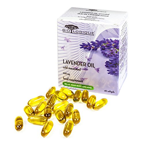 - LAVENDER PURE OIL 500mg, Natural Stress and Anxiety Relief, comforting, calming and ameliorates mild sleep disorders, 100% Pure & Natural cold macerated extract, 40 softgel capsules