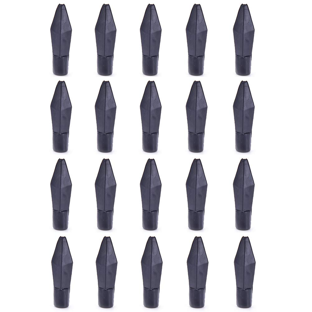 6pcs Arrow Heads Black Steel Sharp Blade Broadheads Screw-in Field Point Tips 150 Grain for DIY Archery Arrows