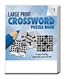 Safety Magnets Large Print Crossword Puzzle Books for Seniors in Bulk (25 Pack) Volume 1