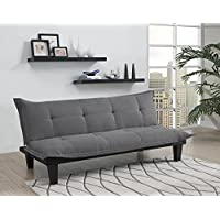DHP Lodge Convertible Futon Couch Bed with Microfiber...