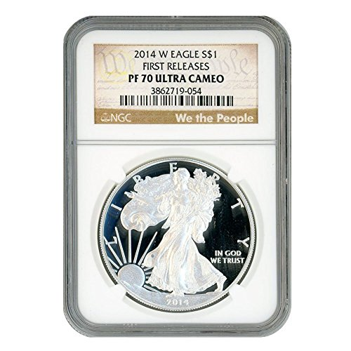 2014 W American Silver Eagle  1 Pf70ucam Ngc First Releases Constitution Label
