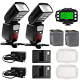 Pixel X900N Kit Lithium Flash Wireless Trigger TTL/M/RPT 1/8000s HSS Speedlite for Nikon DSLR Camera with Included 2pcs X900N Flash,2 pcs Lithium 1pcs King Transceiver
